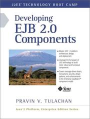 Cover of: Developing EJB 2.0 Components | Pravin V. Tulachan