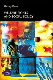 Cover of: Welfare Rights & Social Policy | Hartley Dean