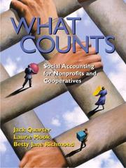 Cover of: What Counts | Jack Quarter, Laurie Mook, Betty Jane Richmond