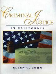 Cover of: Criminal Justice in California