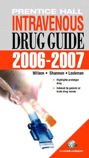 Cover of: Intravenous Drug Guide 2009-2010 | Billie Ann Wilson