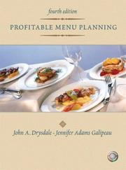Cover of: Profitable menu planning