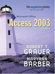 Cover of: Exploring Microsoft Access 2003 Volume 2 (Exploring)