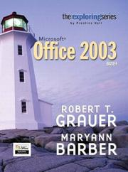 Cover of: Exploring Microsoft Office 2003 Brief- Adhesive Bound (The Exploring Series)