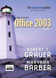 Cover of: Exploring Microsoft Office 2003 Volume 1- Adhesive Bound (Exploring)