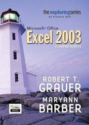 Cover of: Exploring Microsoft Office Excel 2003 Comprehensive- Adhesive Bound (Exploring)