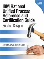 Cover of: IBM Rational Unified Process Reference and Certification Guide | Ahmad K. Shuja