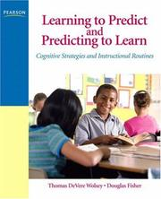 Cover of: Learning to Predict and Predicting to Learn | Thomas D. Wolsey