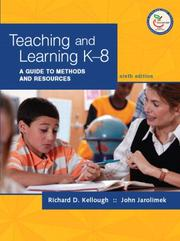 Cover of: Teaching and Learning K-8