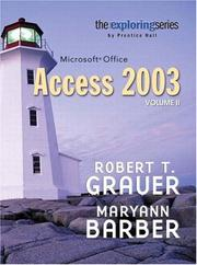 Cover of: Exploring Microsoft Access 2003 Vol. 2 and Student Resource CD Package (Exploring Series)