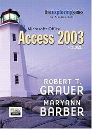 Cover of: Exploring Microsoft Access 2003, Vol. 1 and Student Resource CD Package (Exploring Series)