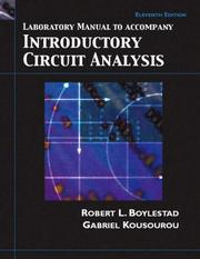 Cover of: Introductory Circuit Analysis | Robert L. Boylestad