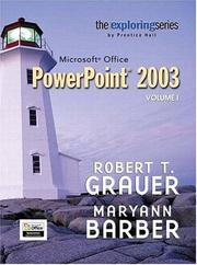Cover of: Exploring Microsoft PowerPoint 2003, Vol. 1 and Student Resource CD Package (Exploring Series)