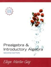 Cover of: Prealgebra & Introductory Algebra with CDROM