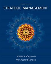 Cover of: Strategic Management | Mason Carpenter