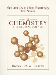Cover of: SOLUTIONS TO RED EXERCISES CHEMISTRY THE CENTRAL SCIENCE