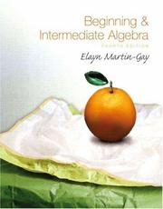 Cover of: Beginning & Intermediate Algebra