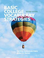 Cover of: Basic College Vocabulary Strategies (2nd Edition) (Pabis Supplemental Vocabulary) | Darlene Ca Pabis