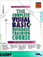 Cover of: The Complete Visual Basic Database Training Course