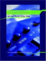 Cover of: Definitive Guide to Criminal Justice and Criminology on the World Wide Web, The
