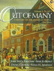 Cover of: Out of Many: A History of the American People, Volume I