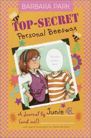 Cover of: Top-Secret Personal Beeswax: A Journal by Junie B. (and Me!)
