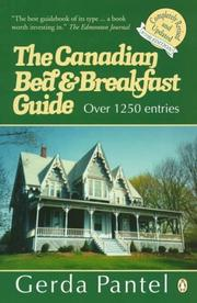 Cover of: Canadian Bed and Breakfast Guide 1997-1998 | Gerda Pantel