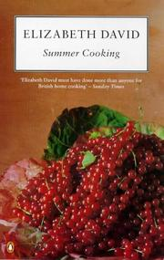 Cover of: Summer Cooking (Cookery Library) | Elizabeth David