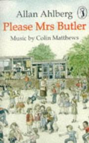 Cover of: Please Mrs Butler