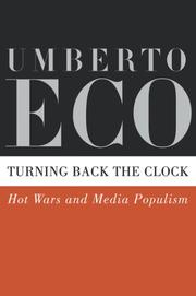 Cover of: Turning Back the Clock | Umberto Eco