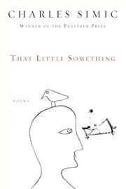 Cover of: That Little Something: Poems