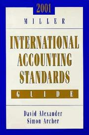 Cover of: 2001 Miller International Accounting Standards Guide