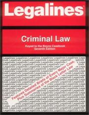 Cover of: Legalines: Criminal Law | Spectra