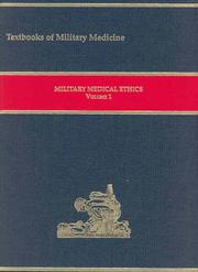 Cover of: Military Medical Ethics, Volume 1-2 (Textbooks of Military Medicine) |