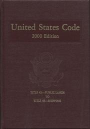 Cover of: United States Code, 2000, V. 25 | Office of the Law Revision Counsel House (U.S.)