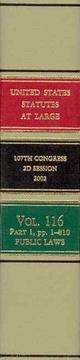 Cover of: United States Statutes at Large, V. 116, 2002, 107th Congress, 2d Session, Pt. 1-4 | Office of the Federal Register (U.S.)