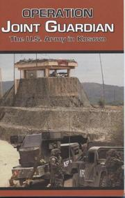Cover of: Operation Joint Guardian: The U.S. Army in Kosovo | Center of Military History (U.S. Army)