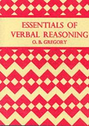Cover of: Essentials of Verbal Reasoning | O.B. Gregory
