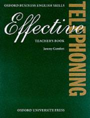 Cover of: Effective Telephoning | Jeremy Comfort