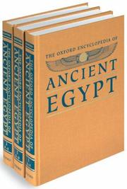 Cover of: The Oxford Encyclopedia of Ancient Egypt | Donald B. Redford