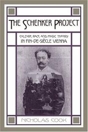 Cover of: The Schenker Project