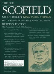 Cover of: The Old ScofieldRG Study Bible, KJV, Reader