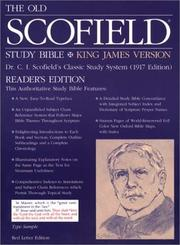 Cover of: The Old ScofieldRG Study Bible, KJV, Special Reader