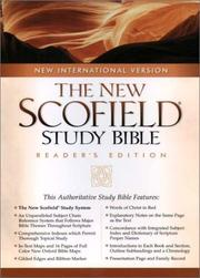 Cover of: The NIV ScofieldRG Study Bible, Special Reader