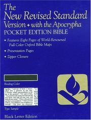 Cover of: Pocket Bible-NRSV (White Berkshire Leather) |