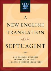 Cover of: A New English Translation of the Septuagint | Albert Pietersma