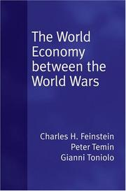 Cover of: The World Economy between the Wars | Peter Temin