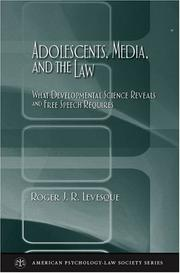 Cover of: Adolescents, media, and the law