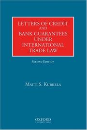 Cover of: Letters of Credit and Bank Guarantees under International Trade Law