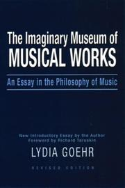 Cover of: The imaginary museum of musical works